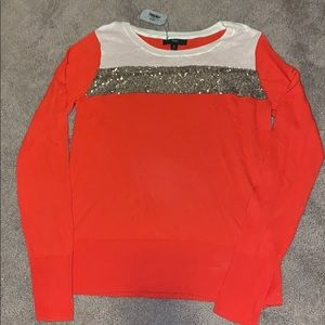 Orange sequin sweater